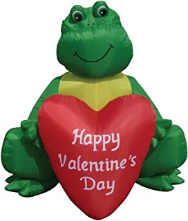 7/' Air Blown Inflatable Blue Valentines Day Dinosaur Yard Decor