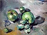 Poster 80 x 60 cm: Grüne Äpfel von Paul