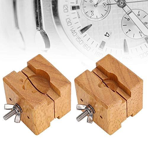 FMOGE Uhrenhalterklemme, hölzernes Uhrengehäuse Uhrwerkhalterklemme Uhr Reparaturzubehör (B-1),Werkzeugkoffer