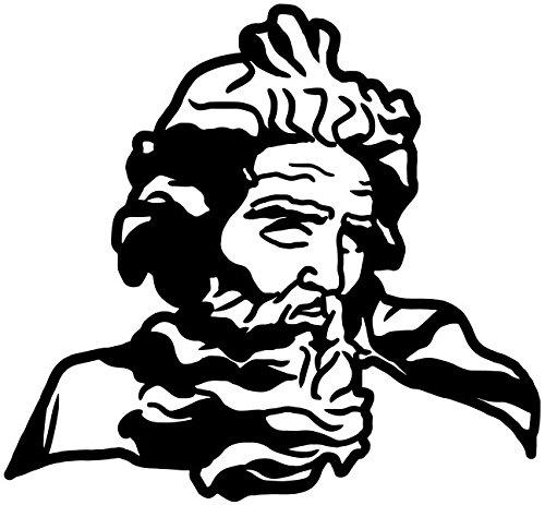 Wandtattoo Neptun Gott Wasser Meer Mann Tunika römische Götter Wand Tür Auto Aufkleber Schlafzimmer Wohnzimmer Schlafzimmer Autoaufkleber Türaufkleber Bad Fenster 5B232, Farbe:Königsblau Matt, Breite vom Motiv:40cm