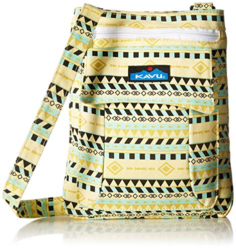 KAVU Keeper Sac bandoulière semi-rembourré en toile de coton Taille unique Ceinture dorée