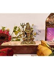 Collectible India Shiva Idol Lord Shiv Padmasana Sitting Statue Gifts