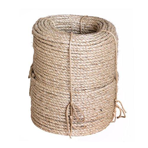 Karry Natur Sisal Leine Seil Sisalseil Auch für kratzbaumseil Kratzbaum Katzenbaum Naturprodukt Hanf Jute Tau Seil Tauziehen Absperr Seil (220 Meter Ø 8 mm) Beige …
