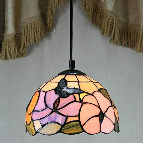 Plafondlamp UK-8 inch Vlinder Pastoraal Glas Kroonluchters voor Slaapkamer, Eetkamer, Woonkamer, Bar, Restaurant, Home Decor