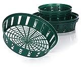 com-four Set de 6 Piezas cestas de siembra para bulbos, tazón de siembra en Crecimiento para Plantar y almacenar Plantas de Cebolla, Verde (Set de 06 Piezas tazón de plantación - 22cm 31cm)