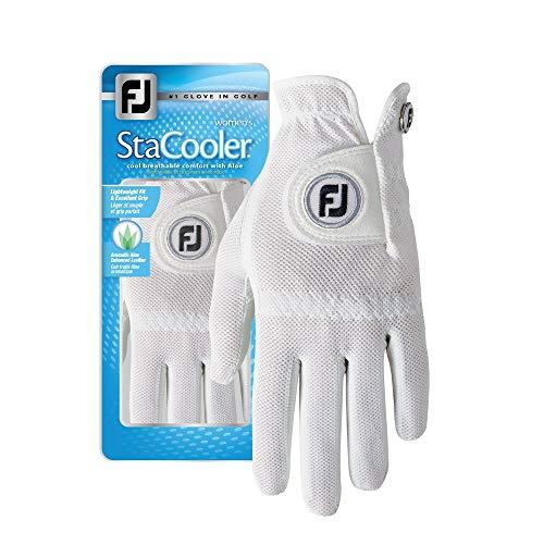 FootJoy Women s StaCooler Golf Glove, Pearl Medium, Worn on Left Hand