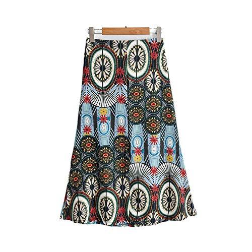 Vrouwen Retro Chic Bloemen Print Midi Rok Vlieg Ontwerp Vrouwelijke Vintage Rokken Ba706