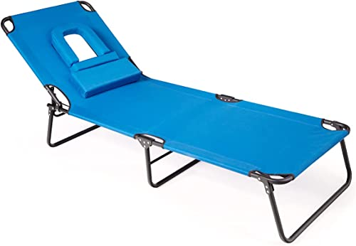 high quality Giantex Beach Lounge Chair Chaise Lounge Chairs for discount Outside with Hole for Face,3 Adjustable Positions,Reclining Folding Lightweight Patio Lawn outlet sale Chairs for Sunbathing Tanning Chair outlet online sale
