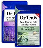Dr Teal's Epsom Salt Bath Combo Pack (6 lbs Total), Sativa Hemp Seed Oil, and Soothe & Sleep with Lavender