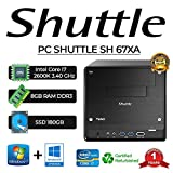 PC SHUTTLE SH 67XA Intel CORE I7 2600K/8GB/SSD 180GB/WIN 10 PRO (Nachbau)