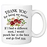 Thank You For Being My Aunt Coffee Mug - 11oz Cup For Your Best Effin Auntie From Favorite Niece or Nephew - Birthday, Christmas, Mother's Day Mug For Her