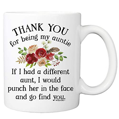 Thank You For Being My Aunt Coffee Mug - 11oz Cup For Your Best Effin Auntie From Favorite Niece or Nephew - Birthday, Christmas, Mother