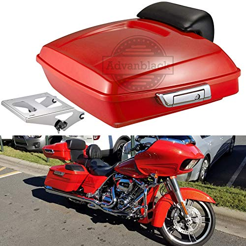 For Sale! Advanblack Laguna Orange Razor Tour Pack Luggage Tour Pak Bracket Rack Fit for Harley Tour...