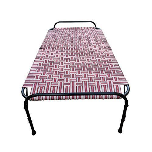 AARAM CHARPAI UDYOG Niwar Folding Bed Single Size   Portable Bed (39 X 72 Inch)