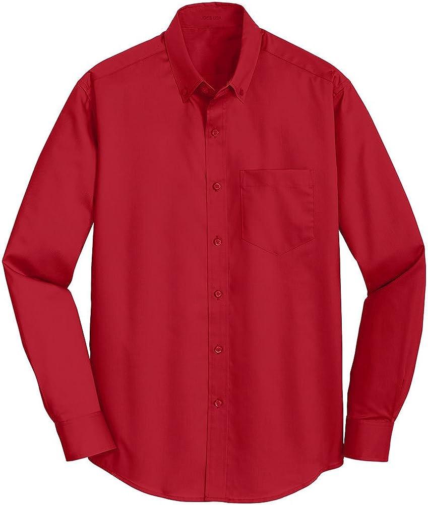 Joe's USA Mens Button Down Twill Shirt Sizes XS-4XL