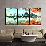 wall26 - 3 Piece Canvas Wall Art - Digital...