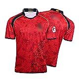 HUAXUN Camiseta de Rugby para Hombre, Camiseta de Entrenamiento de Polo de Rugby español 2019, Camiseta de fútbol de partidario de la selección de España, cumpleaños-XXL
