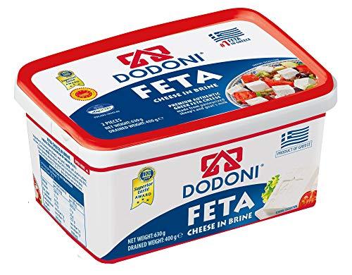 Dodoni Feta Schafkäse - 24x 400g - Fetakäse griechischer Feta Schafskäse in Salzlake Premium Qualität Superior Award 2018 43% Fett i.Tr. aus Griechenland 70% Schaf 30% Ziege Plastikbehälter