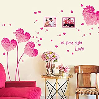Pink Tone Love Heart Wall Sticker Living Room Bedroom Home Decorations Pvc Decal Mural Art