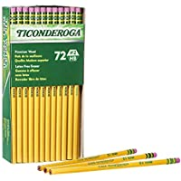 72-Pack Ticonderoga Wood Cased Unsharpened Pencils