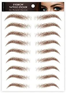Aaiffey Hair-like Authentic Eyebrows 4D Brown Natural Tattoo Eyebrow Stickers Waterproof Imitation Ecological Lazy for Woman & Man Makeup Tool 10 Pcs