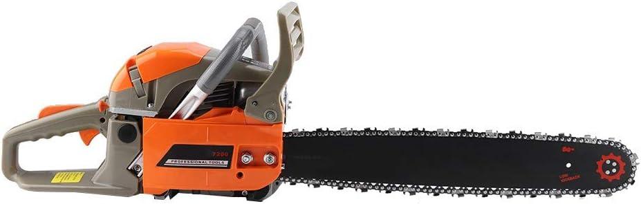 Wakects Motosierra de gasolina de 2200 W motosierra para madera motosierra para corte de madera con longitud de la hoja de 47 cm, 3000 rpm para madera