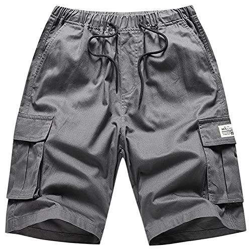 2021 Hombres Camuflaje Camo Cargo Shorts Hombres Casual Pantalones Cortos Sueltos Pantalones Cortos Militares Pantalones Cortos Playa 95% Algodón Longitud de la Rodilla