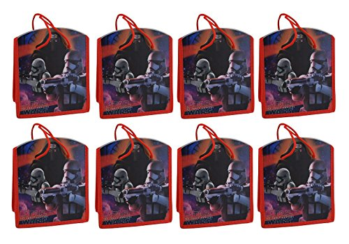 Star Wars Reusable 8-inch Party Favor Tote Bags, 8-Pack