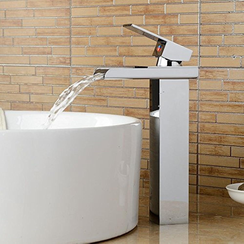 EinfacheKupfer heie und kalte Wasserhhne KüchenarmaturModerne Silber Chrom Messing ein Griff ein Loch Keramikventil heies und kaltes Wasser Bad Becken Wasserhahn Geeignet für Badezimmer Küche