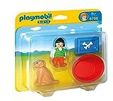 PLAYMOBIL 1.2.3 - Niña con Perro Playsets de Figuras de jugete 6796