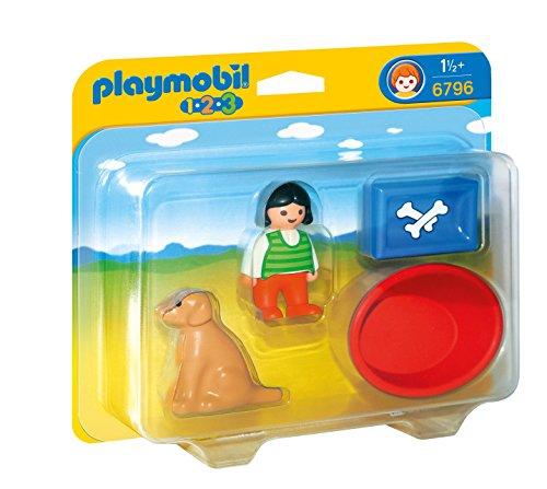 PLAYMOBIL 1.2.3: Niña con Perro Playsets