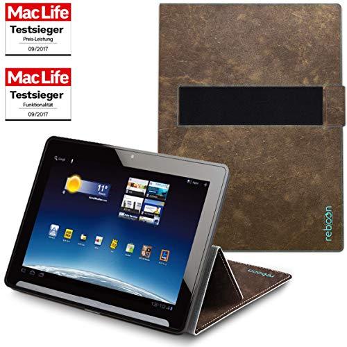 Hülle für Medion Lifetab X10302 Tasche Cover Case Bumper | in Braun Wildleder | Testsieger