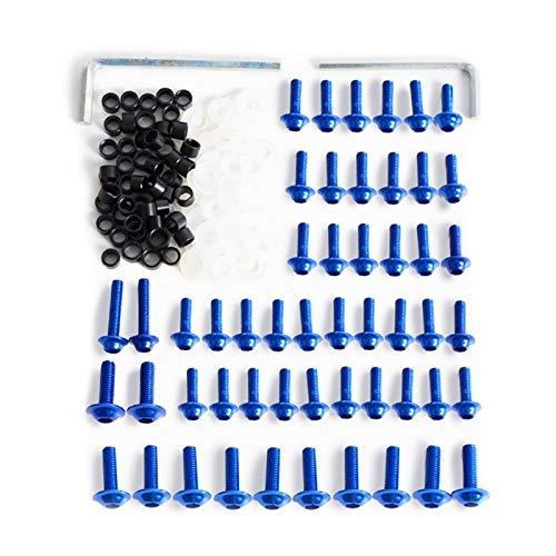 MIAOXIAO Seedling Store 158pcs Motorcycle Barra de carenado Kit Sujetador Clips Tornillo Durable con Estilo (Color Name : Blue)