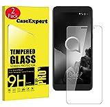 CaseExpert 2 Pack - Alcatel 1C (2019) Protector de Pantalla, Ultra Tanque Transparente Cristal 9H Cristal Templado Glass Protector de Pantalla para Alcatel 1C (2019)