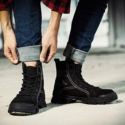 Shukun botas de hombre botas de otoño e Invierno de Martin botas Altas de Hombre para Hombre botas de Herramientas de Pareja Salvaje en Las botas