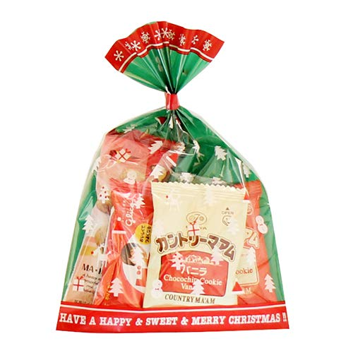 クリスマス袋 6袋 お菓子 詰め合わせ(Dセット) 駄菓子 袋詰め おかしのマーチ
