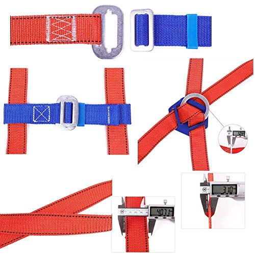 FGVBC Construction Harness Vest-Style, for Aerial Lift, Ironworker, Scaffolding, Tower, Tree Climbing for Universal Men and Women