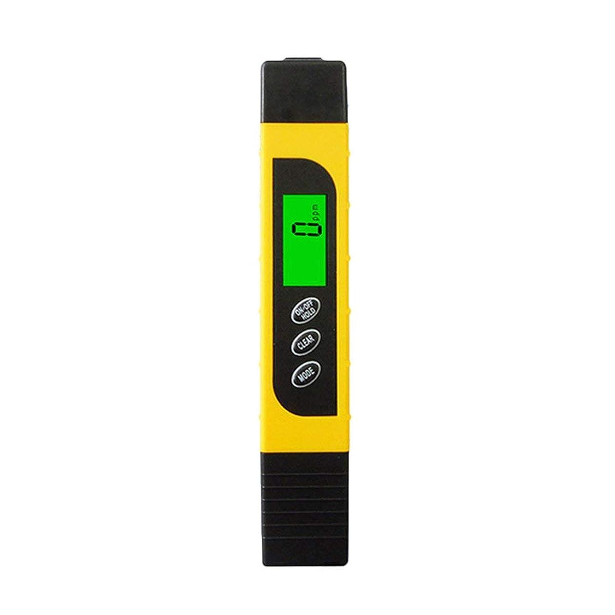 分泌する競う機関多機能TDSメーターテスターポータブルデジタルペン0.01高精度フィルター測定水質純度テストツール - 黄色