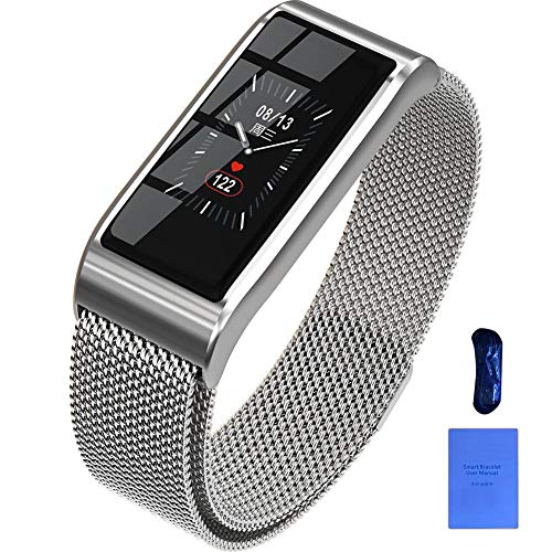 XUEYAN521 Aktivitäts-Tracker Farbdisplay Smart-Armband Schritt Herzfrequenz-Überwachung Smart-Band-Informationen Push-Armband IP67 Wasserdichtes Smartband, Silber