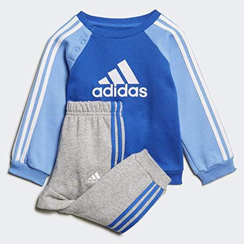 adidas Unisex Kinder I Logo Jog FL Trainingsanzug, blau/weiß, 104