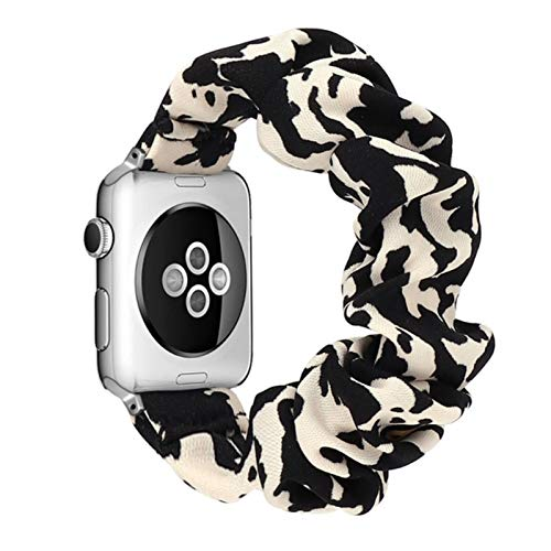 Cinturini per orologi elastici Cinturino per Apple Watch Band Series 6 SE 5 4 3 2 1 38mm 40mm 42mm 44mm per cinturino da donna-Cow Leopard, 42 o 44mm