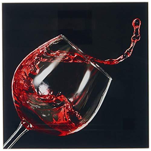 Pro-Art-Bilderpalette Red Wine V Glas-Art, bunt, 30 x 30 x 1,3 cm