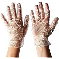 Pack de 300 guantes de polietileno desechables de plástico transparente para limpieza de alimentos, sin polvo, sin látex, cómodos de llevar