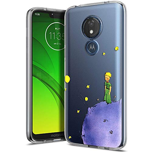 Yoedge Funda Motorola Moto G7 Power, Ultra Slim Cárcasa Silicona Transparente con Dibujos Animados Diseño Patrón [El Principito] Resistente Bumper Case Cover para Motorola Moto G7 Power (Púrpura)