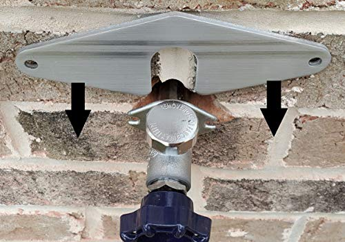 'Hose Bib Buddy' - Spigot Mounting Plate - Anchor it - Without Removing The Faucet. No Plumbing! Any Faucet Old, New, and Shark Bites!