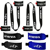 4 Pieces Ski Straps 2 Pieces Ski Pole Carriers Strap Adjustable Ski Shoulder Sling Carrier Lash Strap Downhill Skiing Back Country Gear for Families Men Women Kids