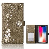 iPhone 13 Pro Max ケース 手帳型 iPhone13アイフォン スマホケース ブラウン simple 蝶