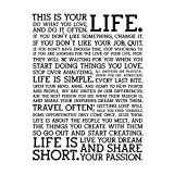 IUYBHRYI Holstee Manifesto Poster Life Motivational Inspiring Poster and Prints Pictures Canvas Prints Wall Art Home Decor-60x80cm No Frame