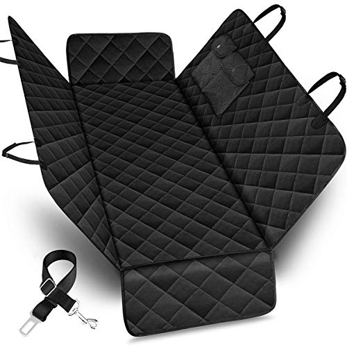 URPOWER Pet Seat Cover Car Seat Cover for Pets - Scratch Proof & Nonslip Backing & Hammock, Quilted, Padded, Durable and Machine Washable Pet Seat Covers for Cars Trucks and SUVs