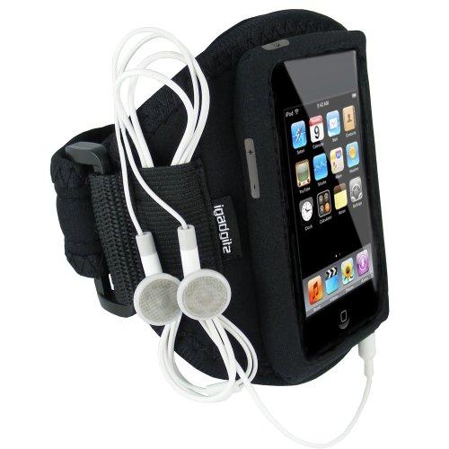 Produktbild iGadgitz U0015 Sportarmband aus Neopren Kompatibel mit iPod Touch 1st,  2,  3. und 4. Generation 8 GB,  16 GB,  32 GB und 64 GB